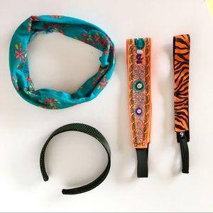 4 Head Wrap Hair Bands Fashion Accessories Set